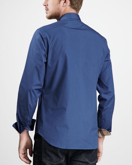 Check-Cuff Sport Shirt