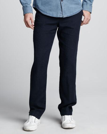 Linen Drawstring Pants, Coastal