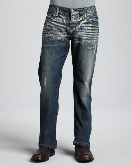 Venice Faded Flap-Pocket Jeans