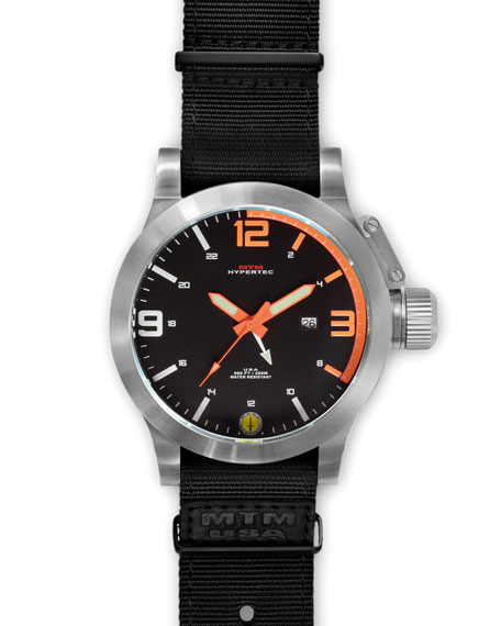 Silver Hypertec Military Tactical Watch, Orange