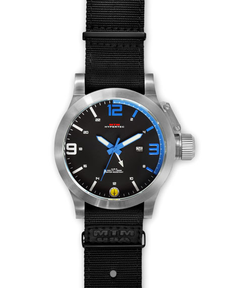 Silver Hypertec Military Tactical Watch, Blue