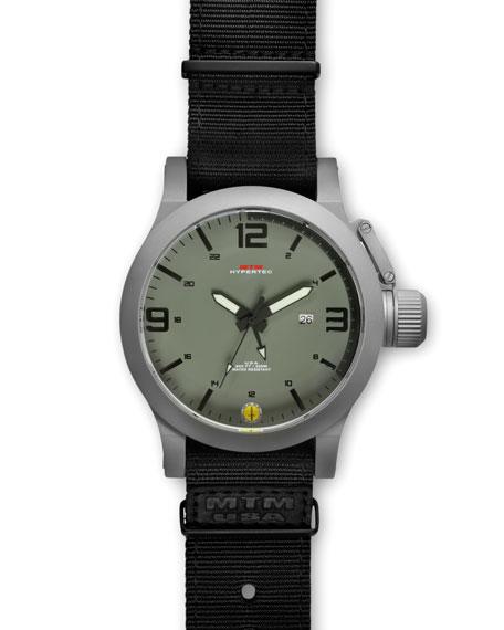 Gray Hypertec Military Watch, Green/Black