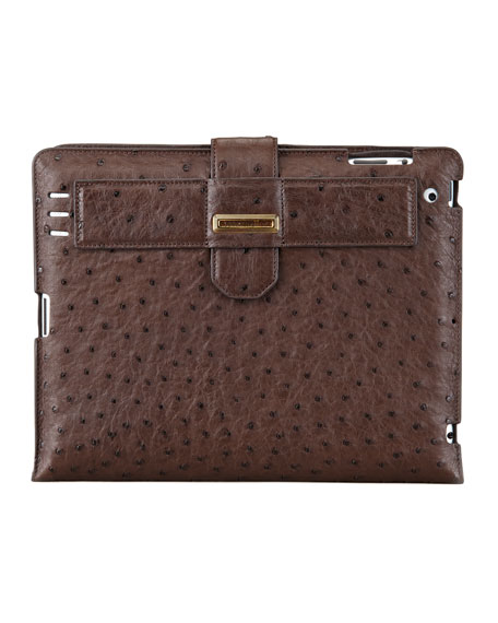 Ostrich iPad 2 Case, Brown