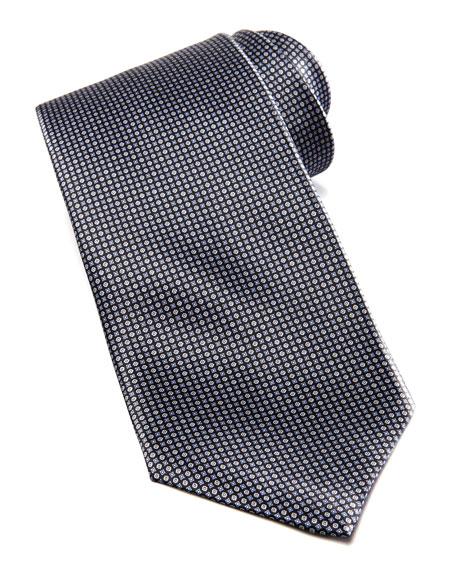 Micro-Neat Silk Tie, Black
