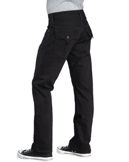 True Religion Ricky Straight Black Jeans