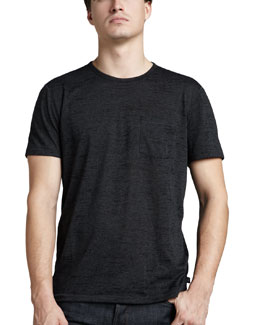John Varvatos Star USA Burnout Pocket Tee