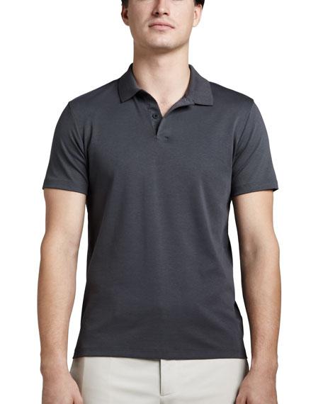 Harbin Pima Polo Shirt, Gray