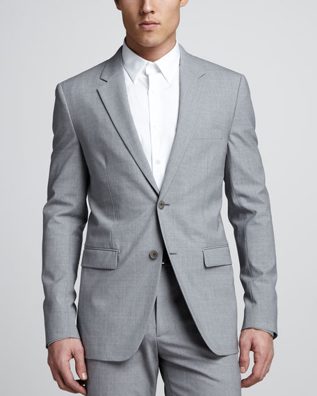 Xylo NP Heathered Stretch-Wool Sport Coat