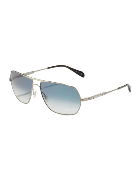 Kelton Photochromic Aviator Sunglasses, Silvertone