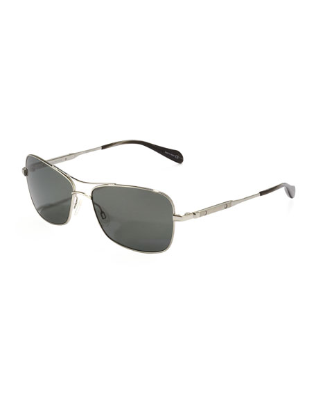 Sanford Polarized Aviator Sunglasses, Midnight Express