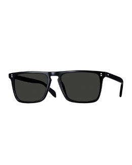 Oliver Peoples Bernardo Polarized Sunglasses, Black