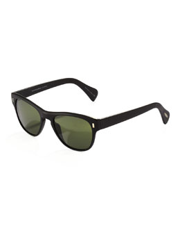 Oliver Peoples Shean Sunglasses, Matte Black