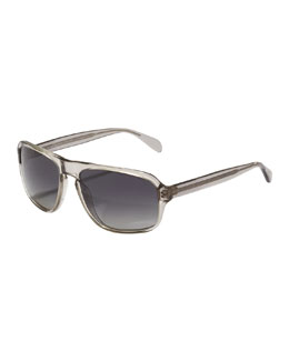 Oliver Peoples Callan Polarized Sunglasses, Gray