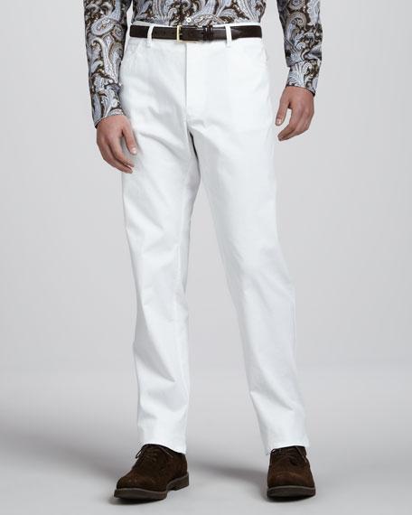 Stelvio Five-Pocket Pants, White