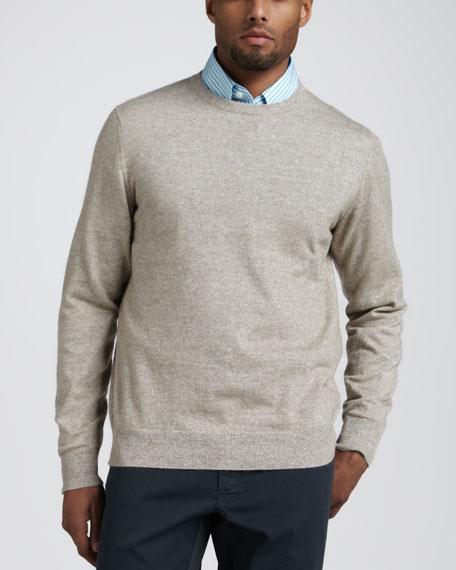 Cashmere-Linen Crewneck Sweater