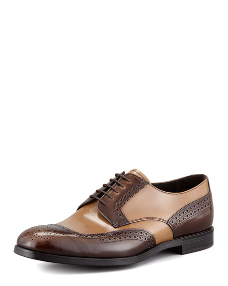Prada Perforated Lace-Up Shoe