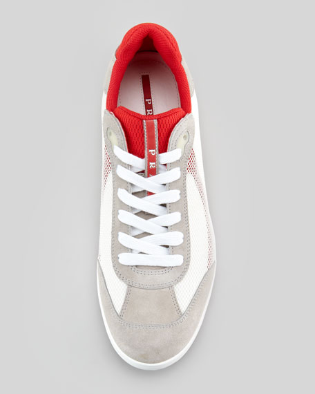 Suede and Mesh Sneaker