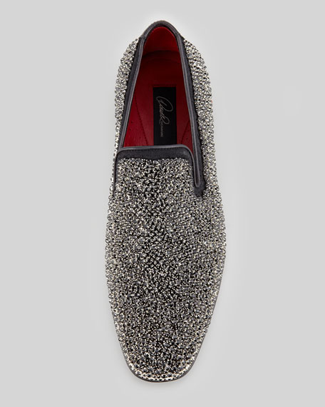 Pascow Crystal-Beaded Loafer, Black