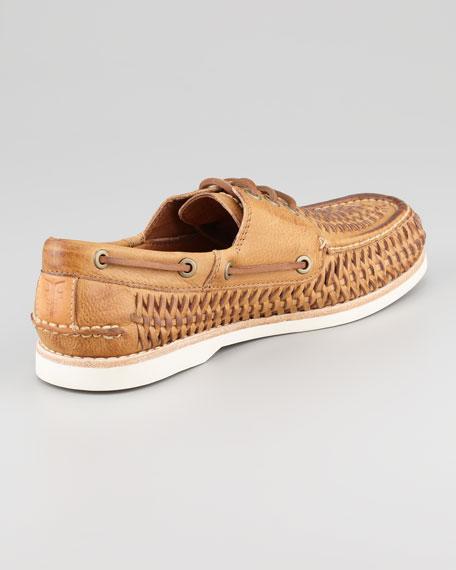 Sully Woven Boat Shoe, Tan