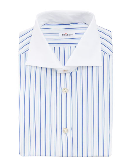 Shadow Striped Dress Shirt, Blue