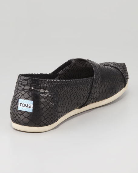 TOMS+ Black Serpentine Classic Slip-On