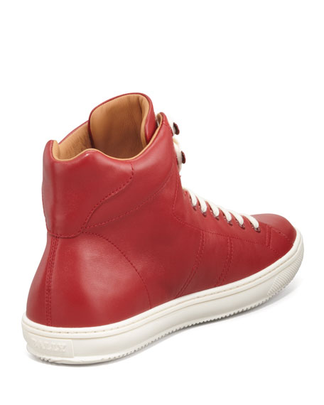 Oxen Logo-Embossed High-Top Sneaker