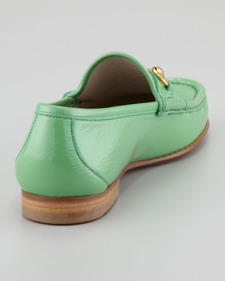 Roos Bit Patent Leather Loafer, Grass