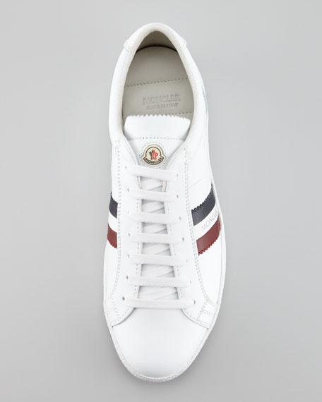 Monaco Low-Top Leather Sneaker, White
