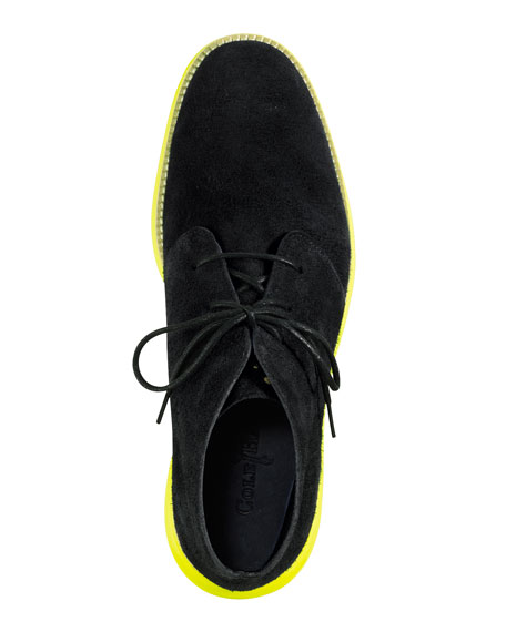 LunarGrand Chukka Boot, Navy/Yellow