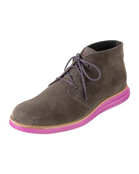 LunarGrand Chukka Boot, Gray/Pink