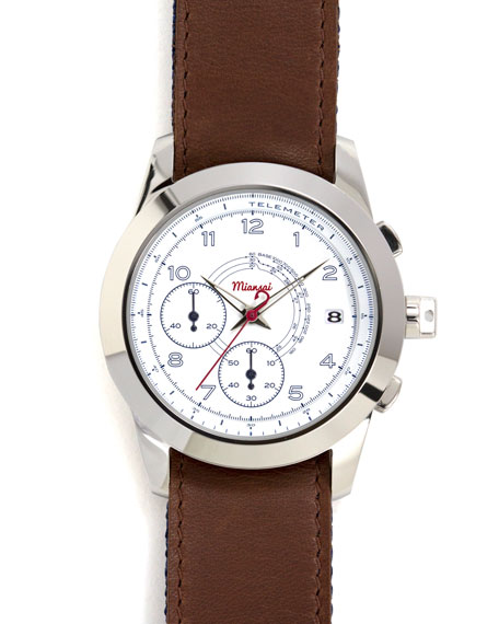 M2 Ribbon-Trim Chronograph Watch, Cappuccino