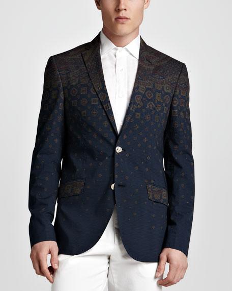 Minerva Striped Foulard Sport Coat