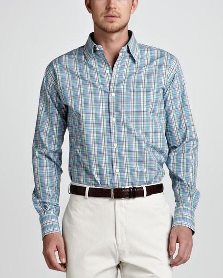 Plaid Sport Shirt, Multicolor