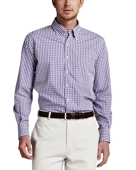 Check Sport Shirt, Royal Purple