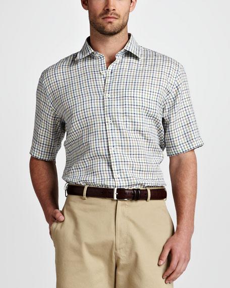 Amalfi Tattersall Linen Shirt