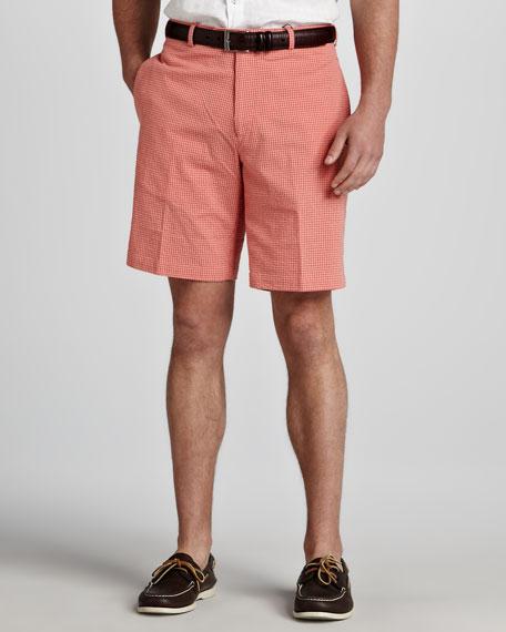Gingham Seersucker Shorts, Tango