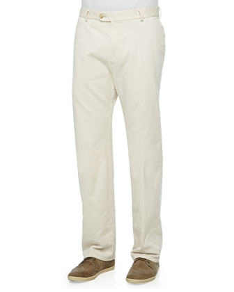 Straight Twill Pants, Stone