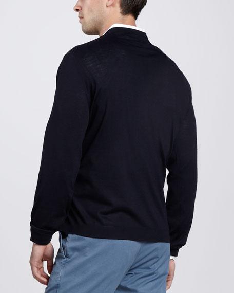 V-Neck Cashmere Sweater, Navy