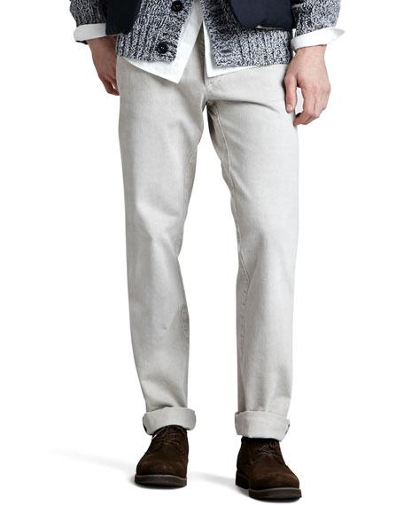 Slim Straight Jeans, Sesame