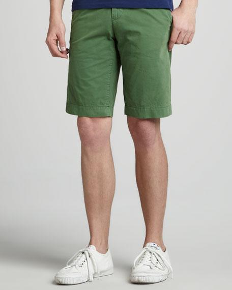 Twill Shorts, Kelly Green