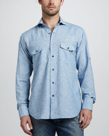 Billy Bob Cotton-Linen Western Shirt
