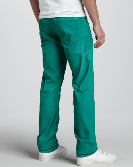 Geno Slim Corduroy Pants, Kelly Green