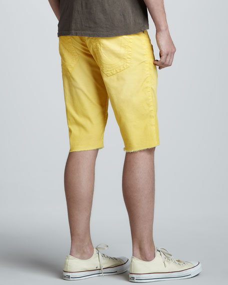 Ricky Cut-Off Shorts, Yellow