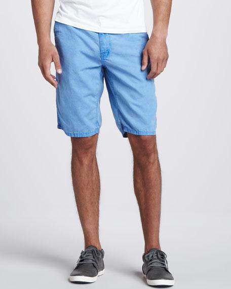 Cowboy Canvas Shorts, Blue Ice Wash