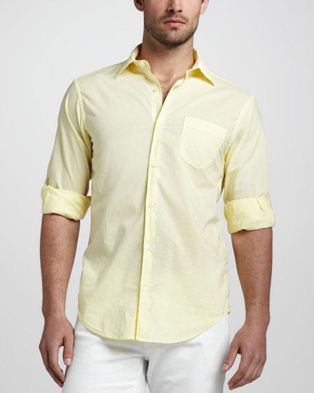 Tissue-Cotton Sport Shirt, Yellow