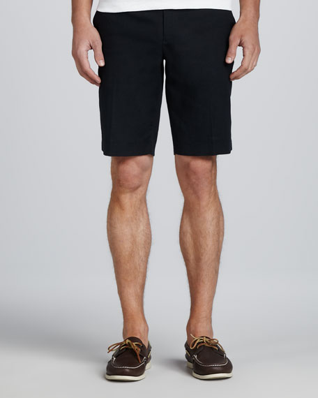 Twill Trouser Shorts, Navy