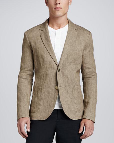 Linen-Cotton Blazer, Sand