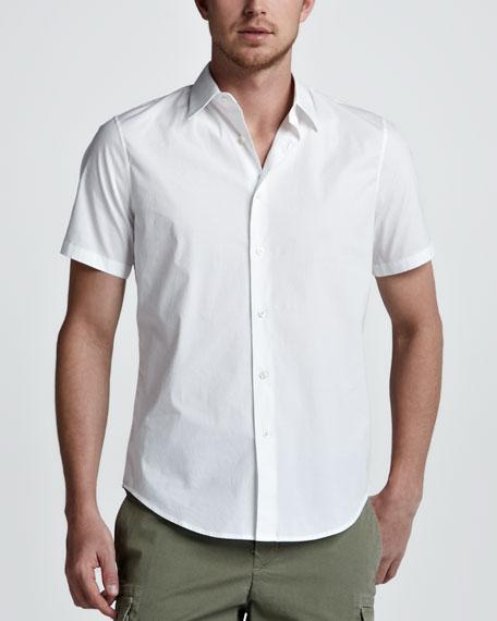 Short-Sleeve Sport Shirt, White