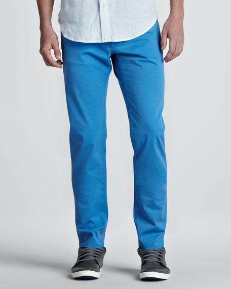 Lightweight Five-Pocket Pants, Bright Blue