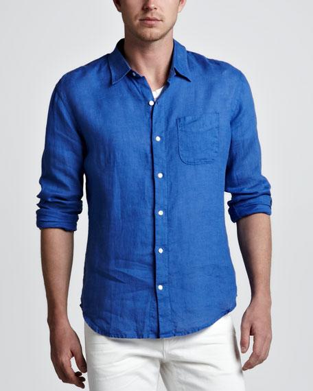 Linen Sport Shirt, Purple